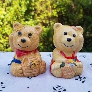 Country bear salt and pepper shakers